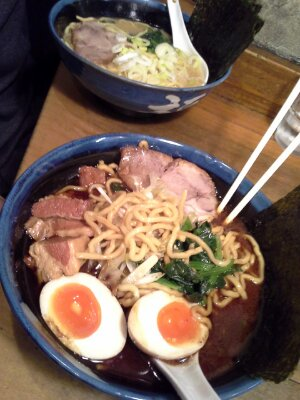 Tender smoked ham, beef, super broth, and FRESH noodles!