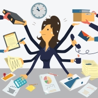 It is not multitasking - it is fast switching and good self management.